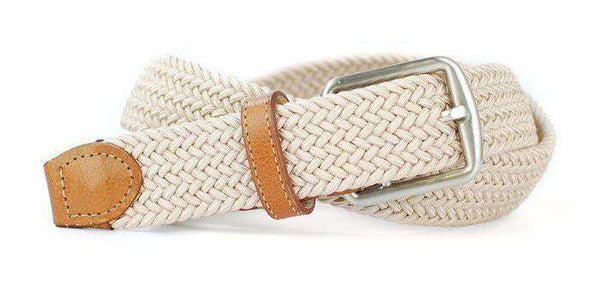 Men's Belts - Newport Woven Belt In Sand By Martin Dingman