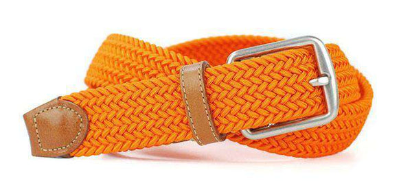 e3576d54a3f Men s Belts - Newport Woven Belt In Tangerine Orange By Martin Dingman