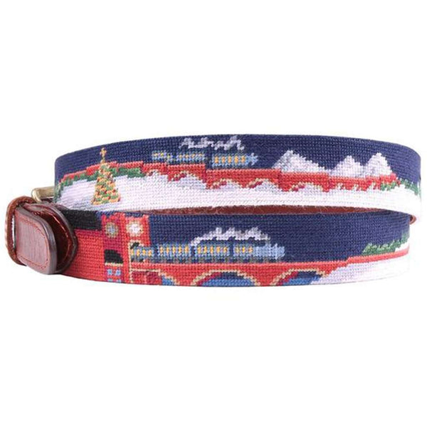 North Pole Needlepoint Belt by Smathers & Branson