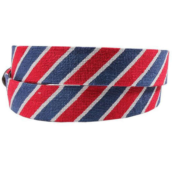 Patriotic Stripe Needlepoint Belt by Smathers & Branson