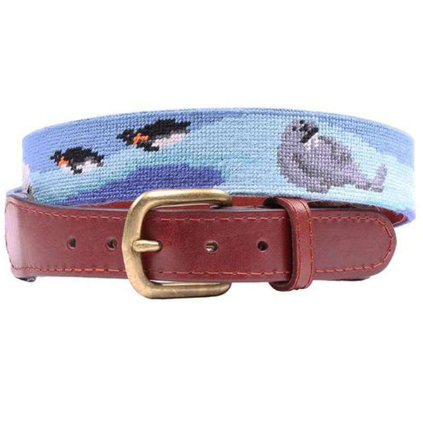 Polar Party Needlepoint Belt by Smathers & Branson