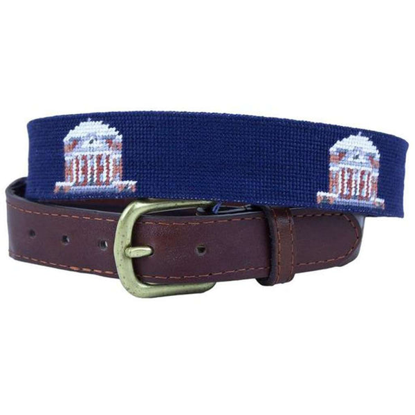Rotunda Needlepoint Belt in Dark Navy by Smathers & Branson