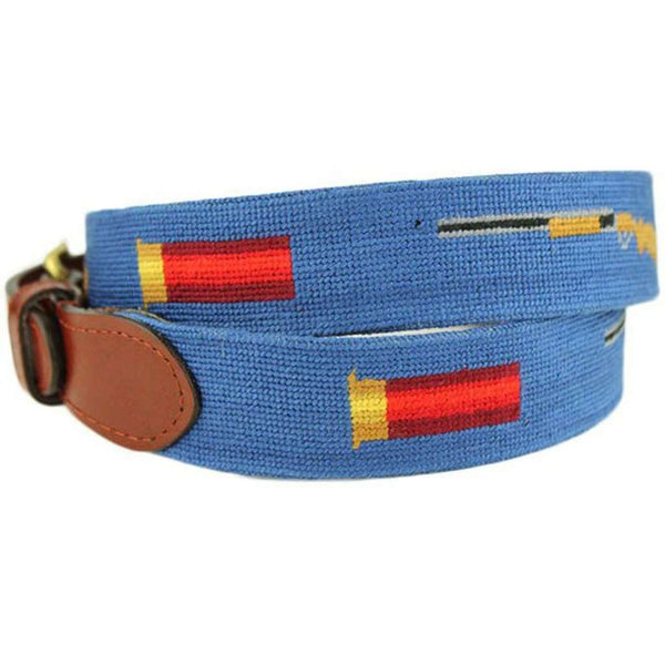 Shotgun and Shell Needlepoint Belt by Smathers & Branson