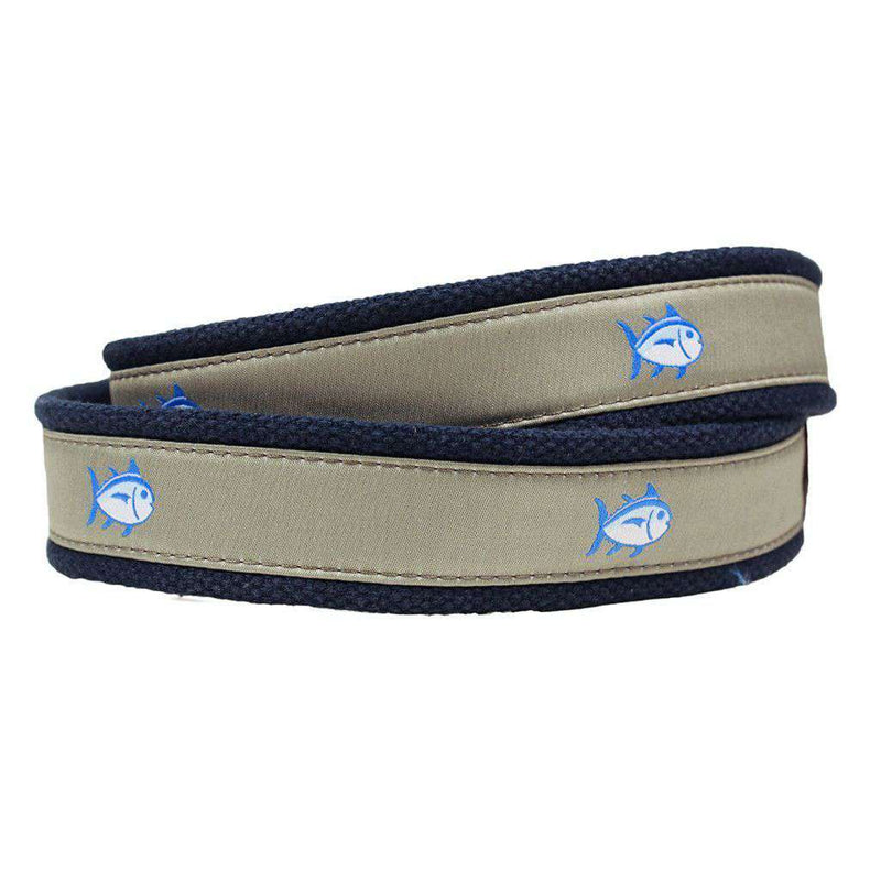 Skipjack Ribbon Belt in Sandstone Khaki by Southern Tide