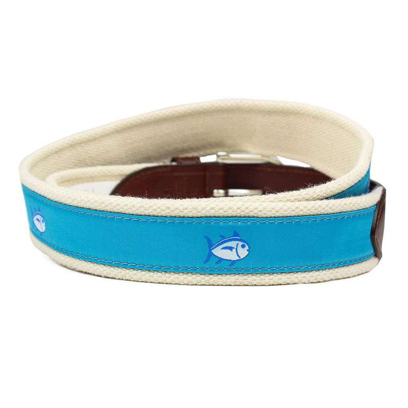 Skipjack Ribbon Belt in Turquoise by Southern Tide