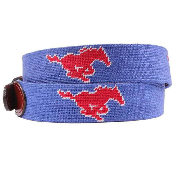 Southern Methodist University Needlepoint Belt by Smathers & Branson