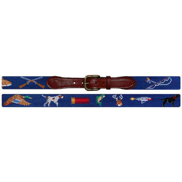 Southern Sportsman Needlepoint Belt in Navy by Smathers & Branson