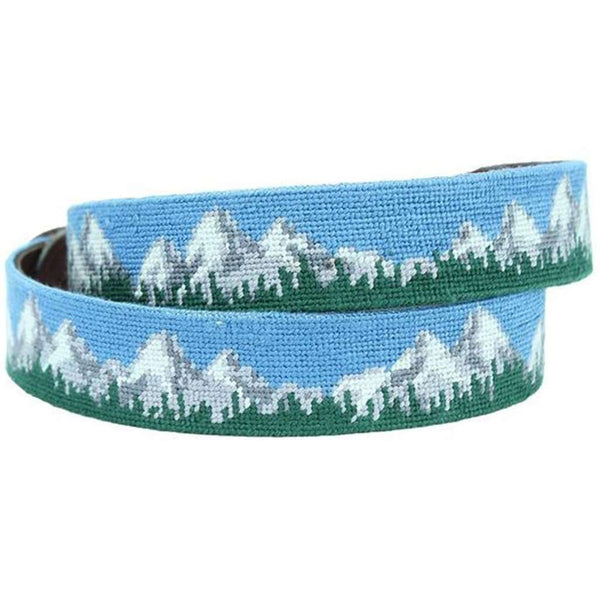 Tetons Needlepoint Belt by Smathers & Branson