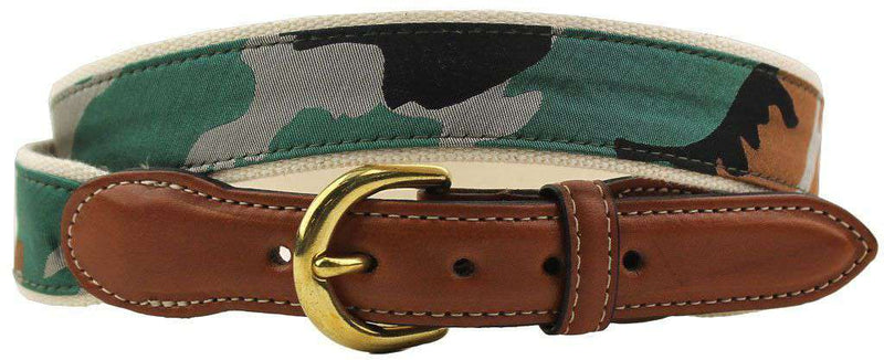 The Leather Tab Belt in Camo by Collared Greens - FINAL SALE