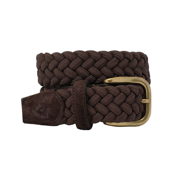 Men's Belts - The Nautilus Woven Rayon Belt In T Moro Suede By Bucks Club