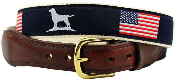 Men's Belts - The Patriotic Ribbon Belt In Navy By Over Under Clothing