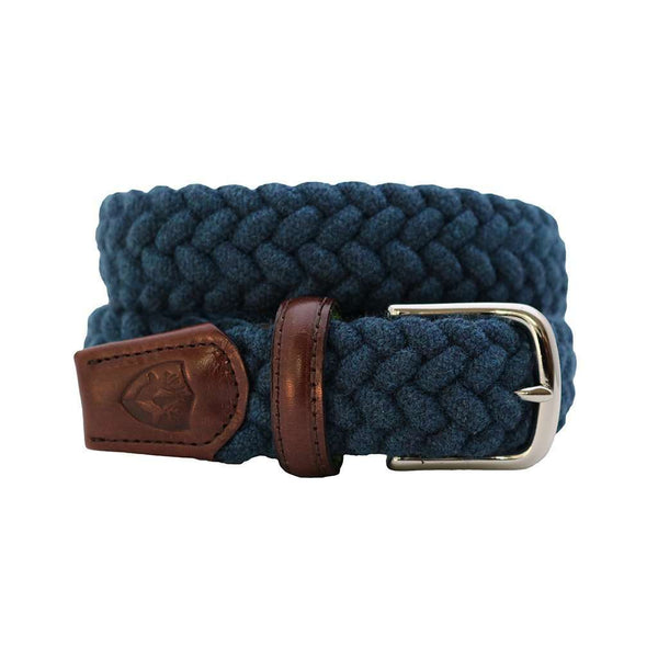 Men's Belts - The Understatement Woven Wool Belt In Royal Blue By Bucks Club