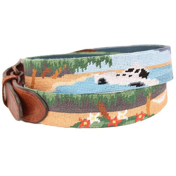 Three Hour Tour Needlepoint Belt by Smathers & Branson