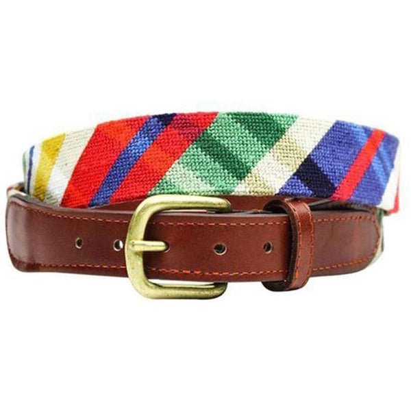 Traditional Madras Needlepoint Belt by Smathers & Branson