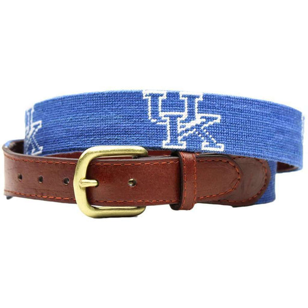 University of Kentucky Needlepoint Belt in Blue by Smathers & Branson