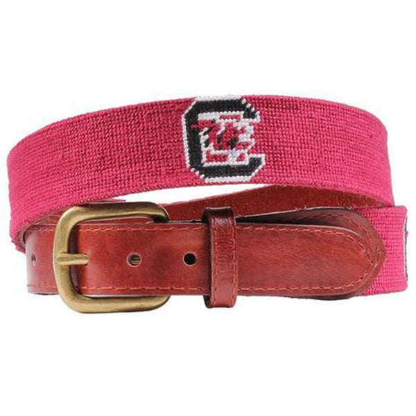 University of South Carolina Needlepoint Belt by Smathers & Branson