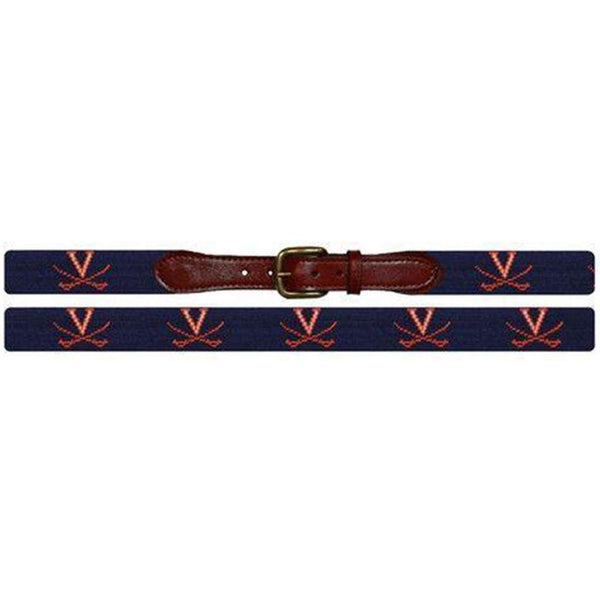 University of Virginia Needlepoint Belt by Smathers & Branson