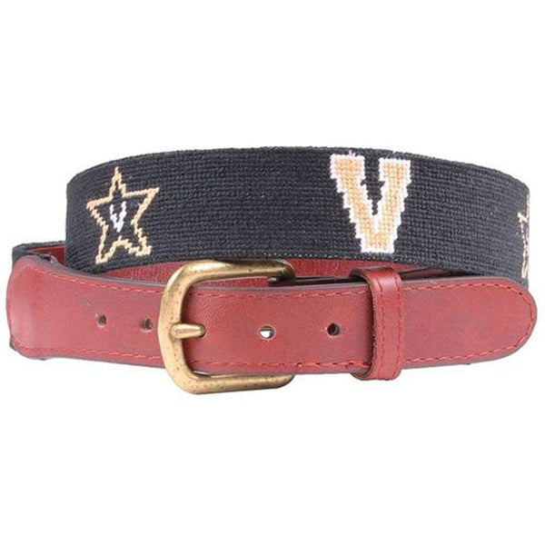 Vanderbilt University Needlepoint Belt by Smathers & Branson