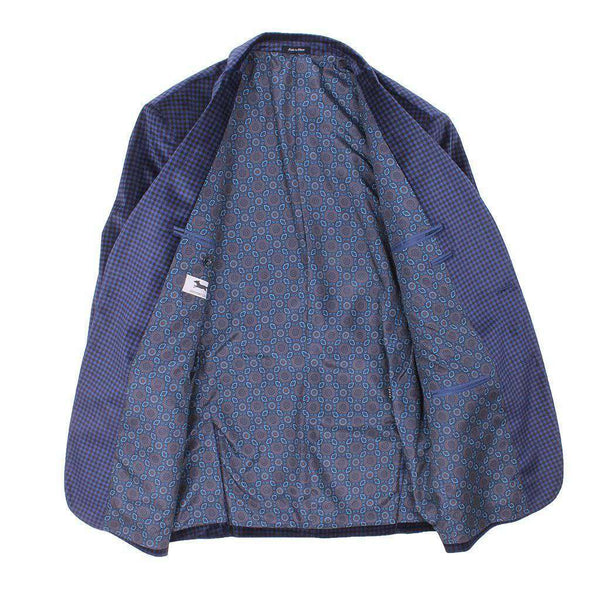 Blue Holiday Check Blazer by Country Club Prep