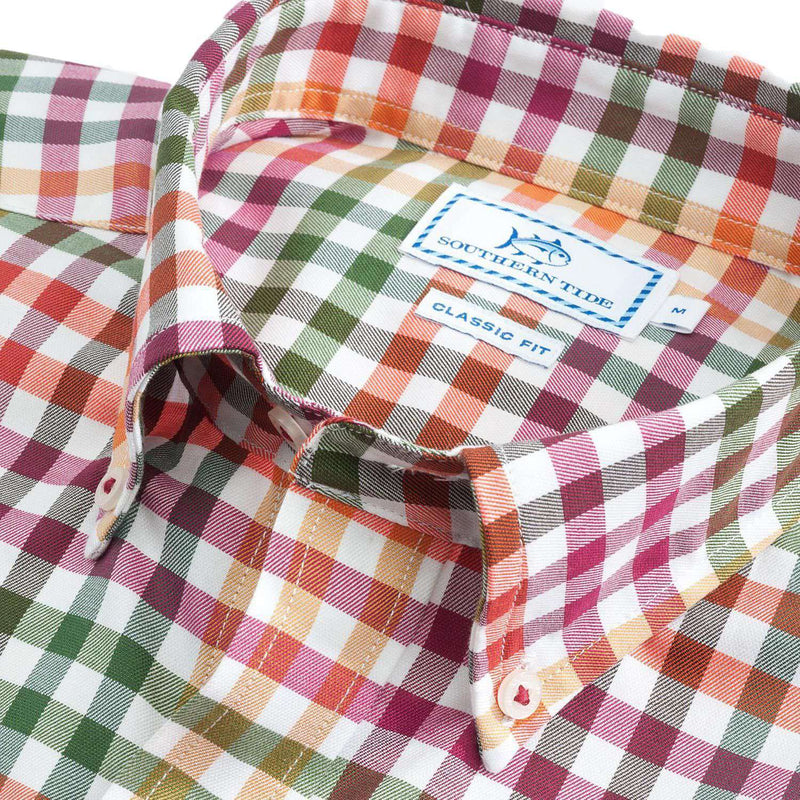 A-List Check Sport Shirt in Pomegranate by Southern Tide