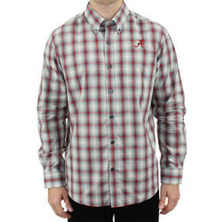 Men's Button Downs - Alabam Button Down In North Point Plaid By Cutter & Buck