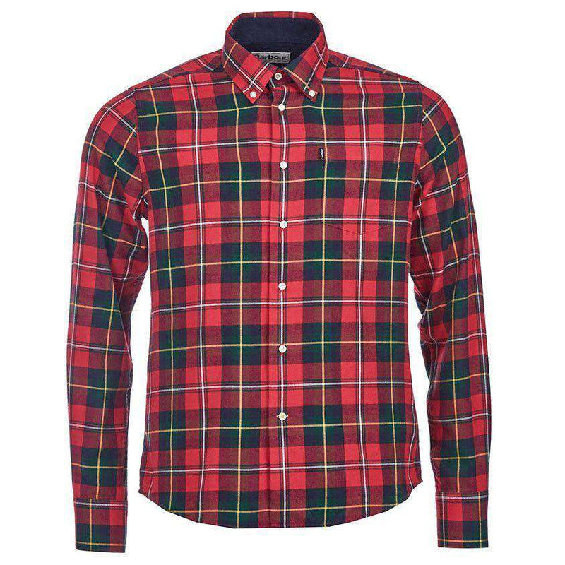 Men's Button Downs - Alvin Tailored Fit Button Down In Rich Red By Barbour