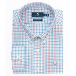 Men's Button Downs - Avondale Plaid Cotton Club Shirt In Alaskan Blue By The Southern Shirt Co.