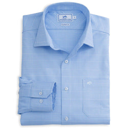Men's Button Downs - Belmont Classic Fit Sport Shirt In Liberty Blue By Southern Tide