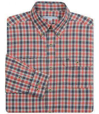 Men's Button Downs - Belmont Plaid Outdoor Classic Fit Sport Shirt In River Run By Southern Tide