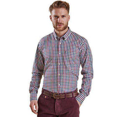 Men's Button Downs - Bibury Regular Fit Button Down In Plum By Barbour