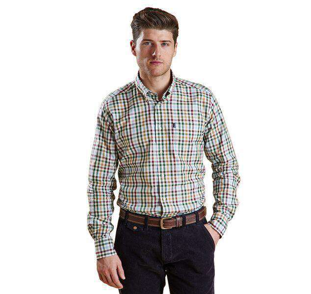 Men's Button Downs - Bibury Tailored Fit Button Down In Olive By Barbour
