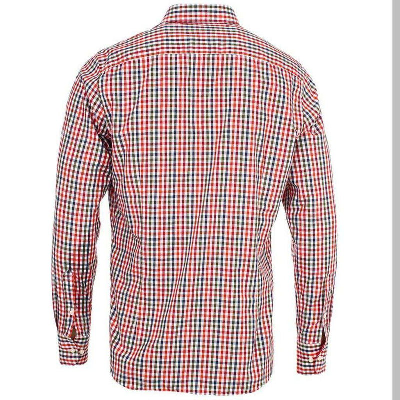 Blackbrook Shirt in Pillar Box Red by Barbour