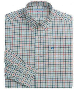 Men's Button Downs - Blue Ridge Check Sport Shirt In Fall Creek By Southern Tide