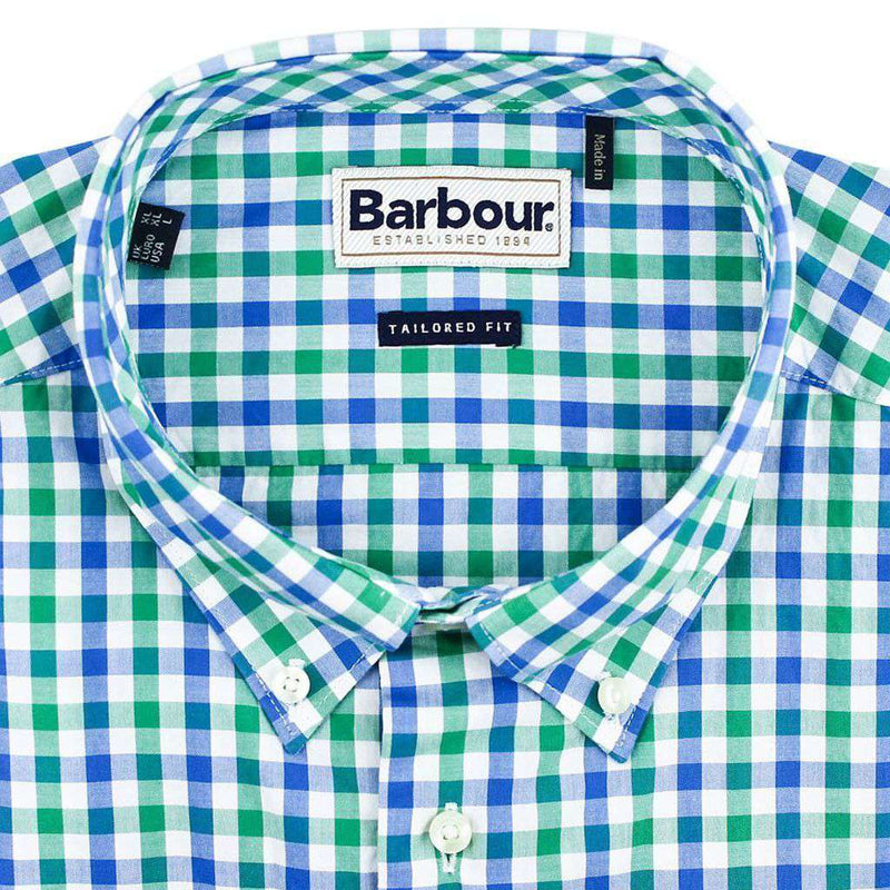 Bruce Tailored Fit Button Down in Navada Green by Barbour