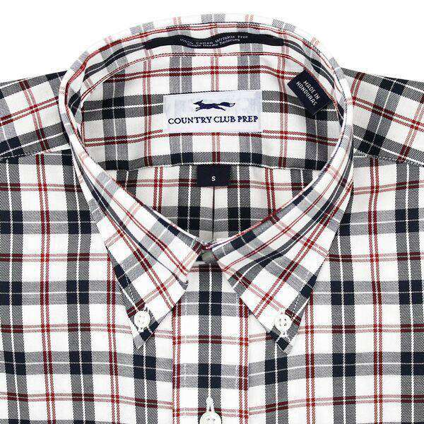 Button Down in Black and Red Check by Country Club Prep - FINAL SALE