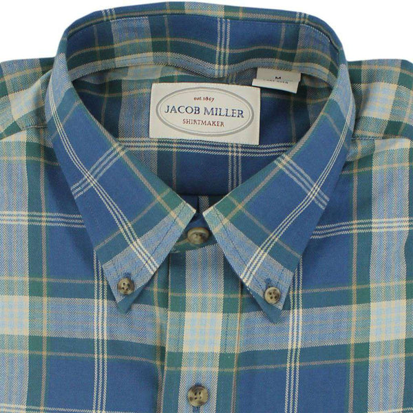 Men's Button Downs - Button Down In Blue And Gold By Jacob Miller - FINAL SALE