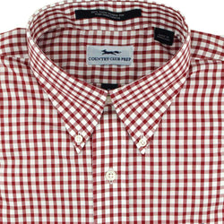Button Down in Crimson Gingham by Country Club Prep - FINAL SALE