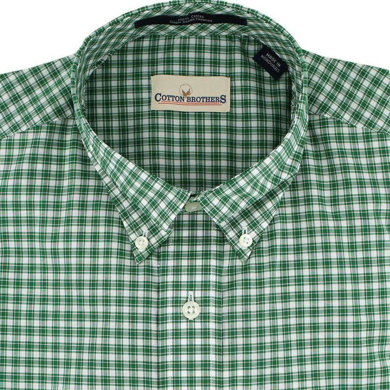 Button Down in Green Tattersall by Cotton Brothers - FINAL SALE
