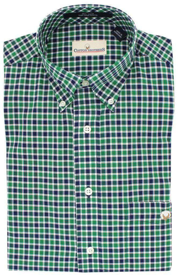 Button Down in Hunter Gingham by Cotton Brothers