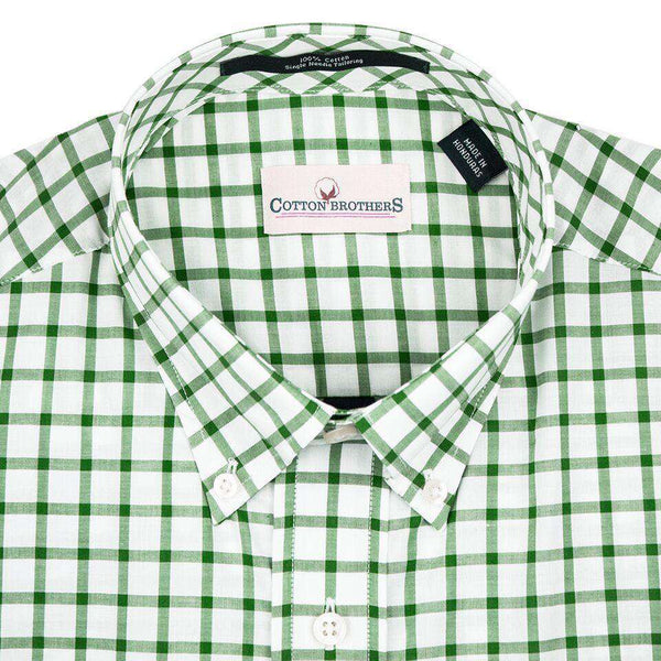 Button Down in Hunter Green Check by Cotton Brothers