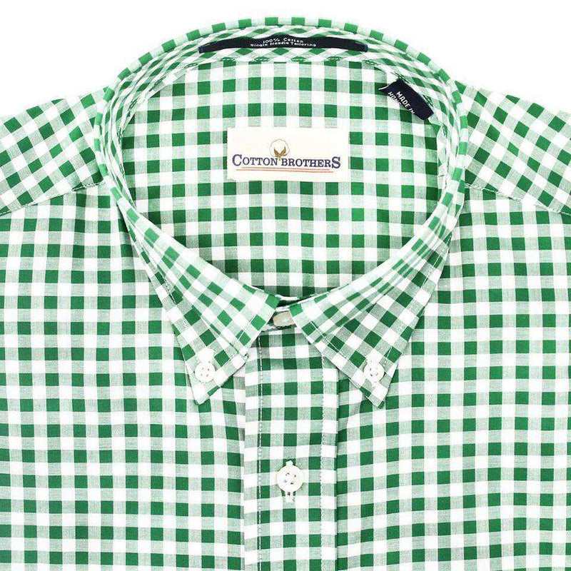 Button Down in Hunter Green Gingham by Cotton Brothers