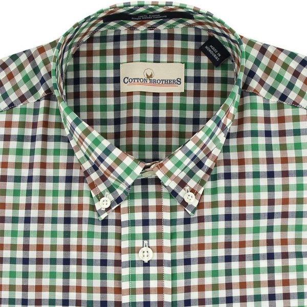 Button Down in Hunter Multi-Gingham by Cotton Brothers
