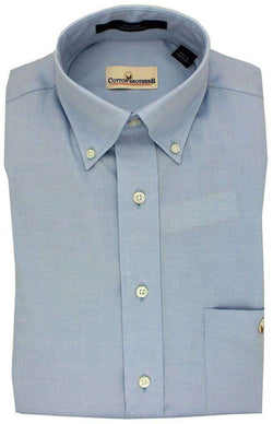 Men's Button Downs - Button Down In Light Blue By Cotton Brothers