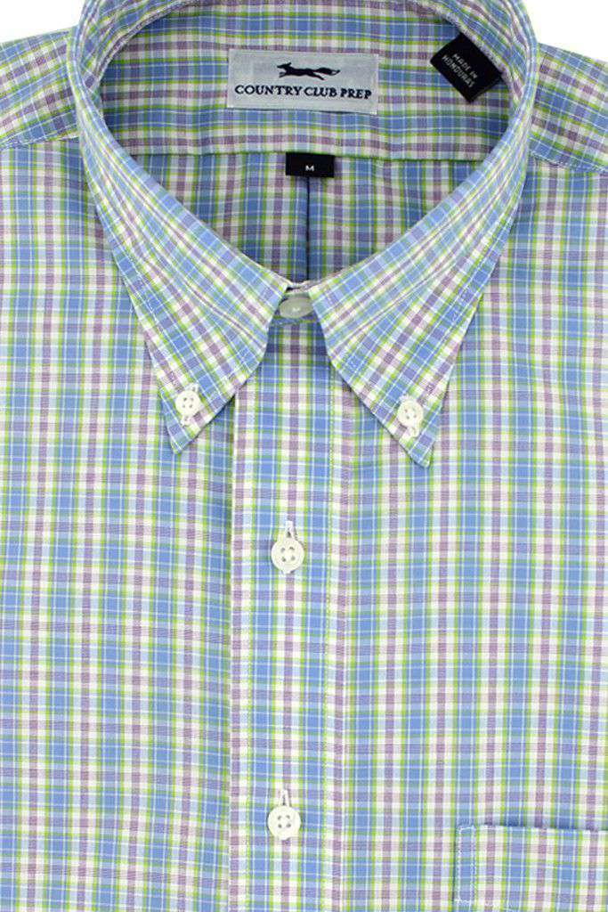 Button Down in Light Blue Plaid by Country Club Prep - FINAL SALE