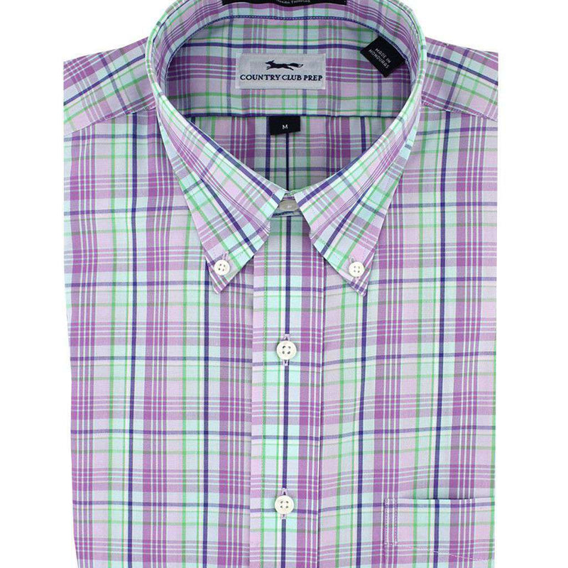 Button Down in Lilac Plaid by Country Club Prep - FINAL SALE