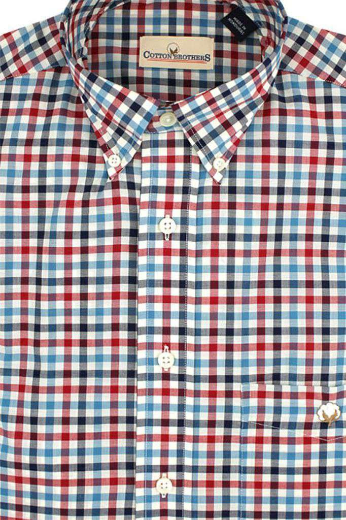 Men's Button Downs - Button Down In Mallard Multi-Gingham By Cotton Brothers