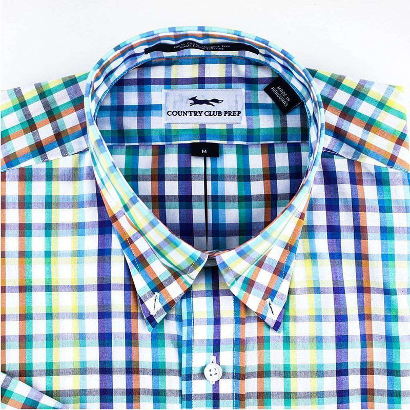 Men's Button Downs - Button Down In Multi Summer Madras By Country Club Prep - FINAL SALE