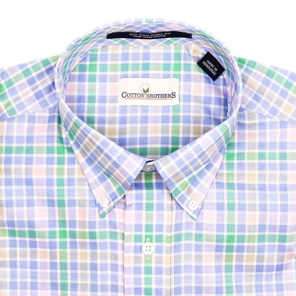 Button Down in Pastel Multi Check by Cotton Brothers