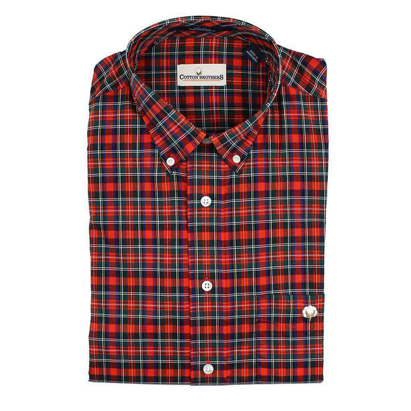Men's Button Downs - Button Down In Red Plaid By Cotton Brothers - FINAL SALE
