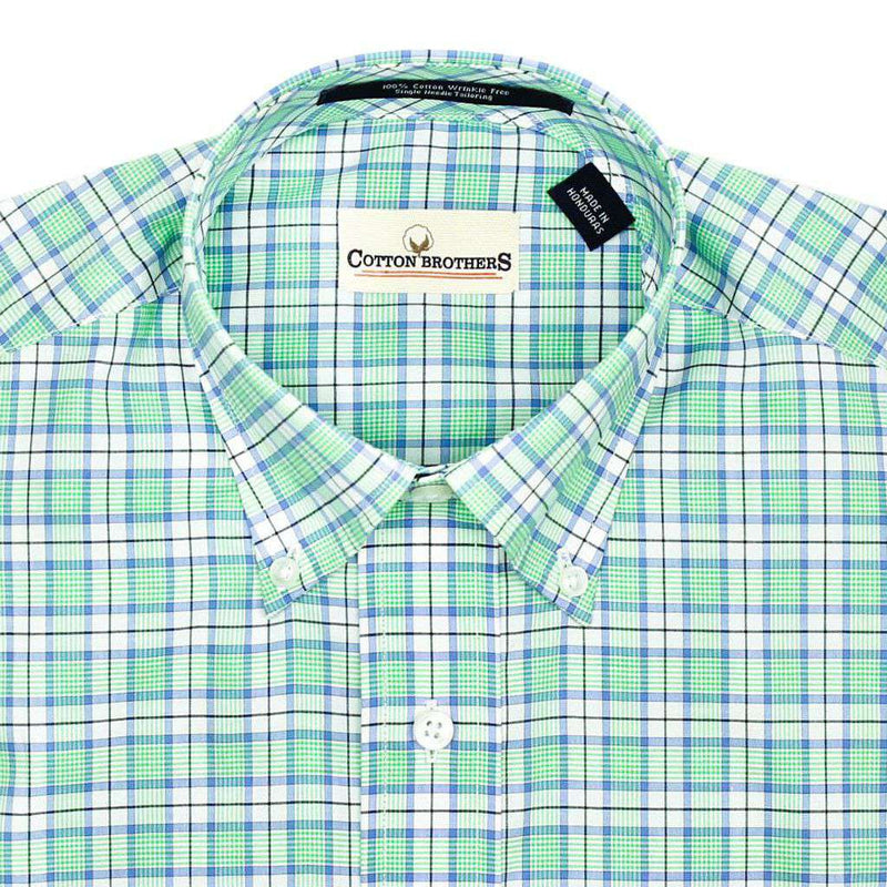 Button Down in Seafoam Window-Pane by Cotton Brothers